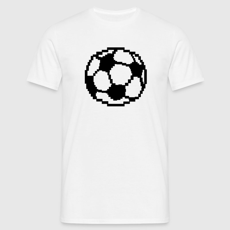 foot pixel ballon football soccer Tee shirts - T-shirt Homme