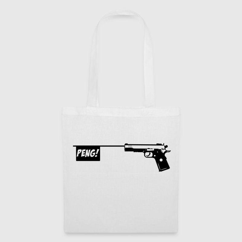 Pistole PENG! Scherzartikel Knarre 1c Taschen & Rucksäcke - Stoffbeutel