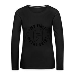 My First Metal Shirt - Body - Frauen Premium Langarmshirt