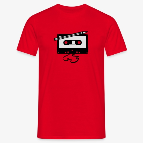 Tape kassette Musik - Old School Fast Forward  - Männer T-Shirt