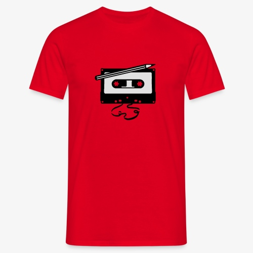 Tape kassette Musik - Old School Fast Forward  - Männer T-Shirt