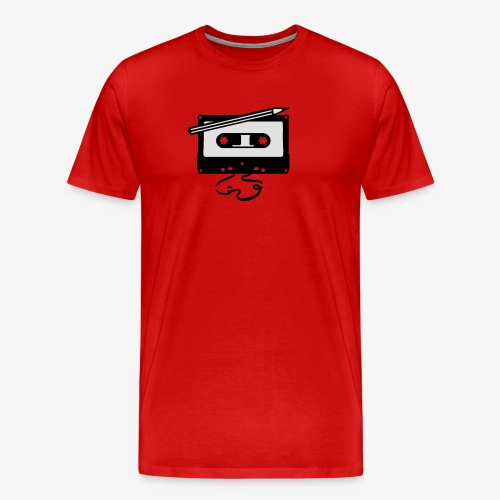 Tape kassette Musik - Old School Fast Forward  - Männer Premium T-Shirt