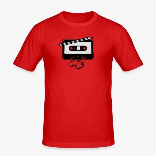 Tape kassette Musik - Old School Fast Forward  - Männer Slim Fit T-Shirt