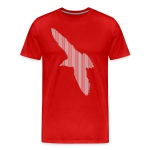 LINE BIRD 033w - Mannen Premium T-shirt