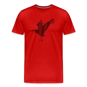 LINE BIRD 034b - Mannen Premium T-shirt