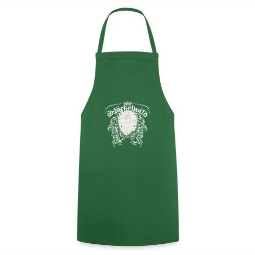 Stöckelwild Wappen grün - Kochschürze
