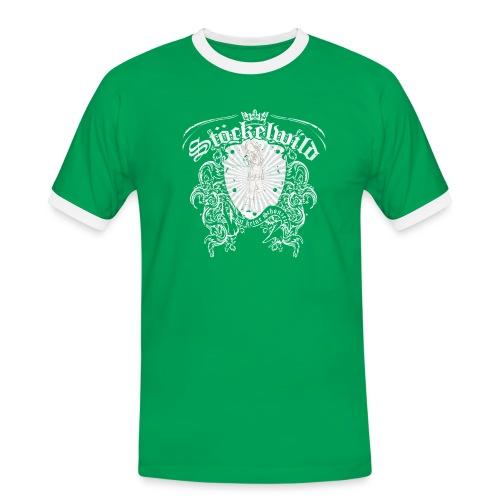 Stöckelwild Wappen grün - Männer Kontrast-T-Shirt