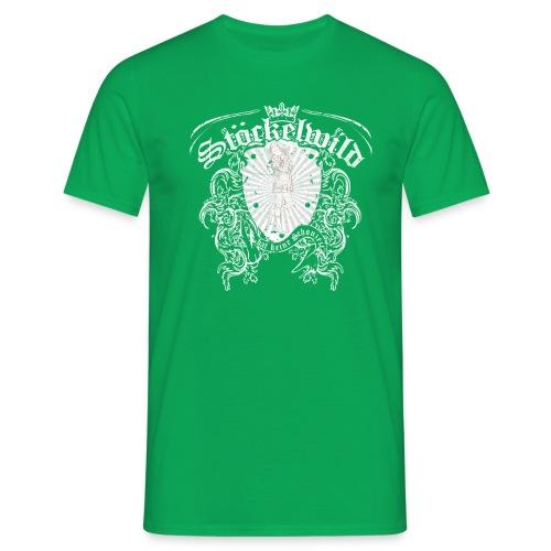 Stöckelwild Wappen grün - Männer T-Shirt