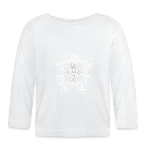 Stöckelwild Wappen grün - Baby Langarmshirt