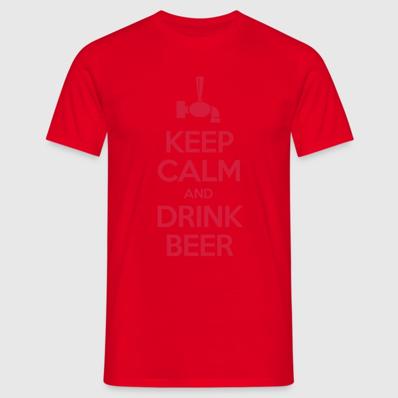 Keep calm and drink beer Tee shirts - T-shirt Homme