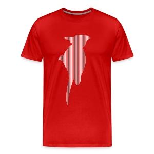 LINE BIRD 035w - Mannen Premium T-shirt