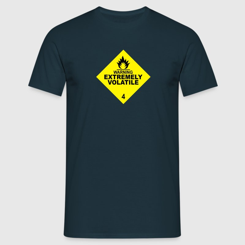warning extremely volatile square II 2c T-Shirts - Men's T-Shirt