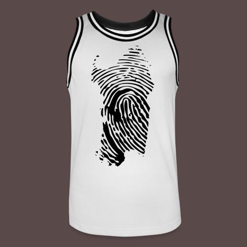Sardegna, Impronta digitale (glitter) - Maglia da basket per uomo