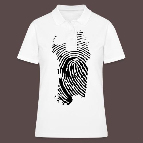 Sardegna, Impronta digitale (glitter) - Women's Polo Shirt