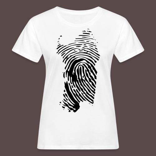 Sardegna, Impronta digitale (glitter) - T-shirt ecologica da donna