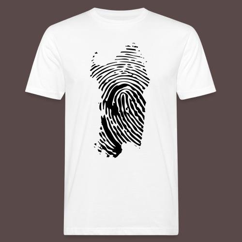 Sardegna, Impronta digitale (glitter) - T-shirt ecologica da uomo