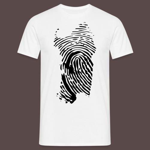 Sardegna, Impronta digitale (glitter) - Maglietta da uomo