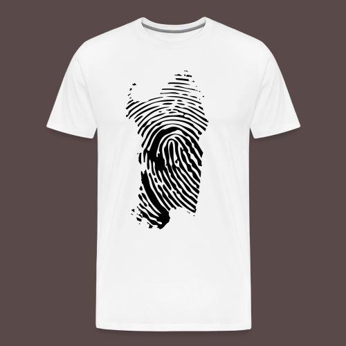 Sardegna, Impronta digitale (glitter) - Maglietta Premium da uomo