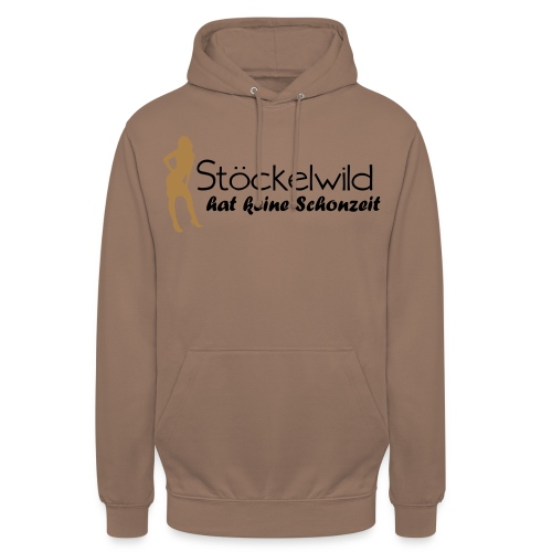 Stöckelwild braun/orange horizontal - Unisex Hoodie