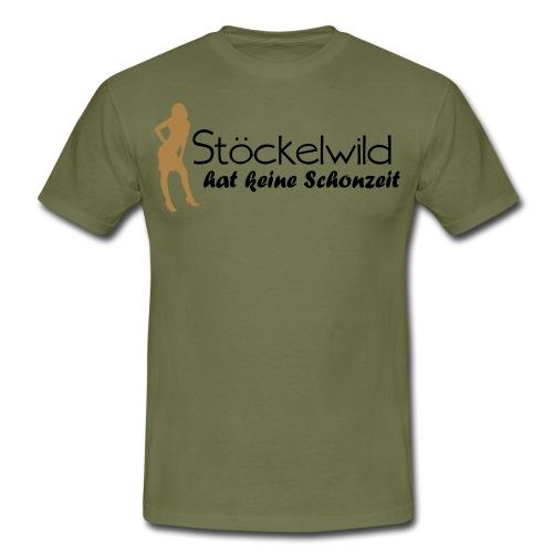 Stöckelwild braun/orange horizontal - Männer T-Shirt