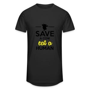 Menschen & Tiere - Save a Cow eat a Human - Männer Urban Longshirt