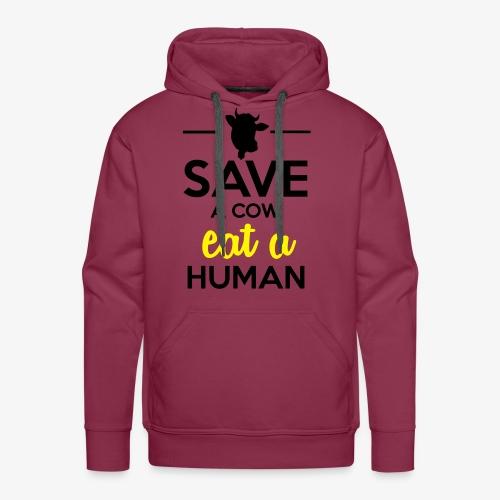 Menschen & Tiere - Save a Cow eat a Human - Männer Premium Hoodie