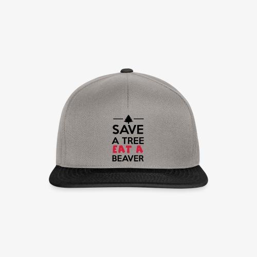 Wald und Tier - Save a Tree eat a Beaver - Snapback Cap