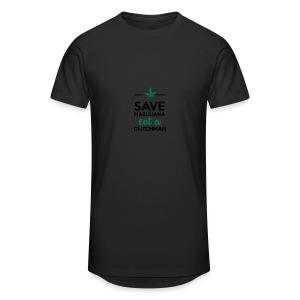 Drogen & Cannabis - Save Marijuana eat a Dutchman - Männer Urban Longshirt