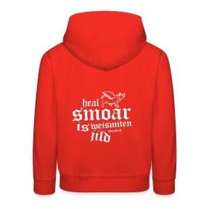 Kinderen trui Premium met capuchon - Heal smoar is weismiten jilt / Skraal Bluesrock
