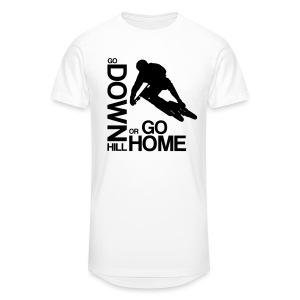 Go down(hill) or go home! - Männer Urban Longshirt