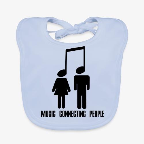 Music Connecting People - Baby Bio-Lätzchen