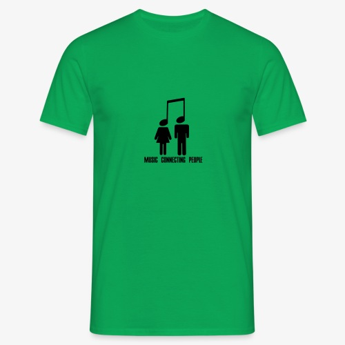 Music Connecting People - Männer T-Shirt