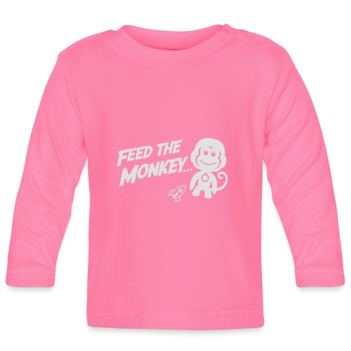 Feed The Monkey - Red Hoodie  - Baby Long Sleeve T-Shirt