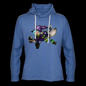 BabyShirt Besenfliegerin, die fliegende Hexe - Leichtes Kapuzensweatshirt Unisex