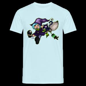 BabyShirt Besenfliegerin, die fliegende Hexe - Männer T-Shirt