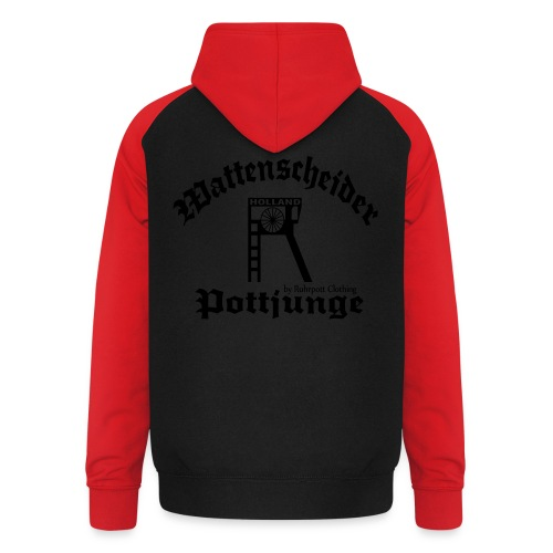 Wattenscheider Pottjunge - T-Shirt - Unisex Baseball Hoodie