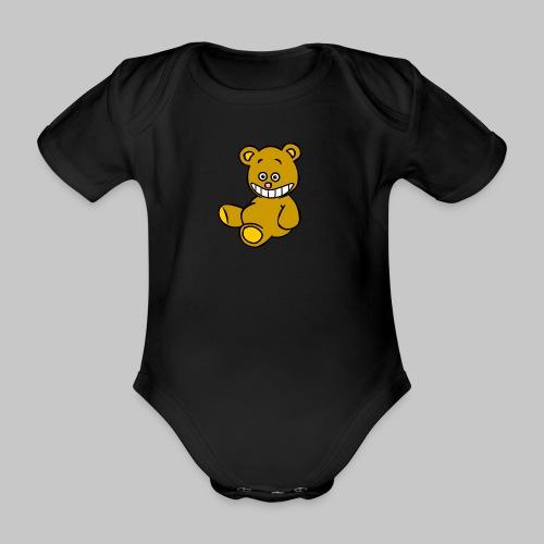 Ulkbär sitzt - Baby Bio-Kurzarm-Body