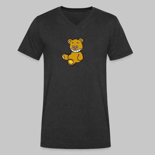 Ulkbär sitzt - Männer Bio-T-Shirt mit V-Ausschnitt von Stanley & Stella