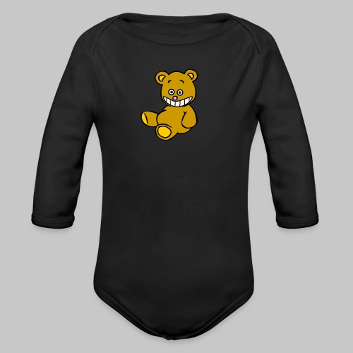 Ulkbär sitzt - Baby Bio-Langarm-Body