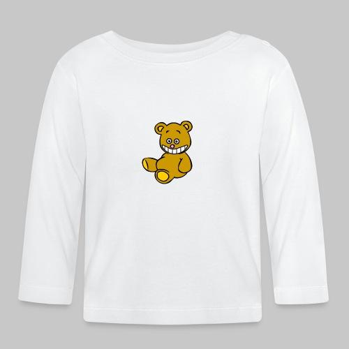 Ulkbär sitzt - Baby Langarmshirt