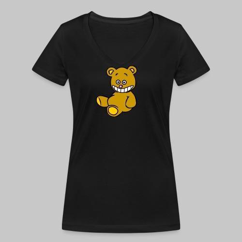 Ulkbär sitzt - Frauen Bio-T-Shirt mit V-Ausschnitt von Stanley & Stella