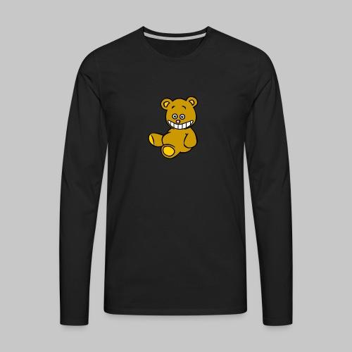 Ulkbär sitzt - Männer Premium Langarmshirt