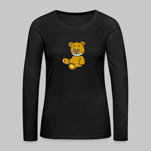 Ulkbär sitzt - Frauen Premium Langarmshirt