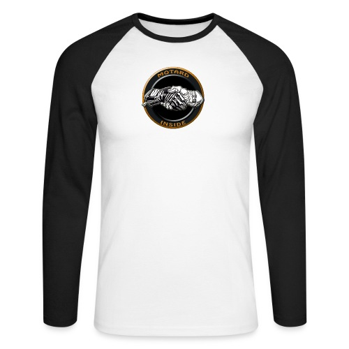 Motard inside - T-shirt baseball manches longues Homme