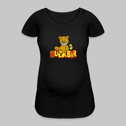 Ulkbär mit Vogel - Frauen Schwangerschafts-T-Shirt