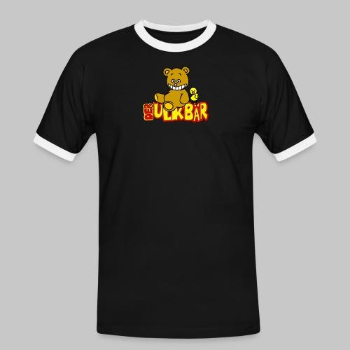 Ulkbär mit Vogel - Männer Kontrast-T-Shirt