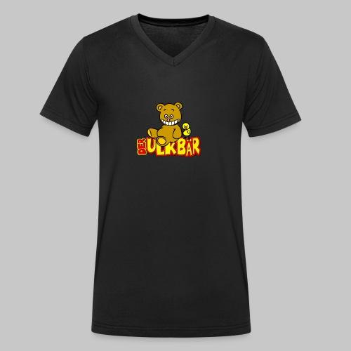 Ulkbär mit Vogel - Männer Bio-T-Shirt mit V-Ausschnitt von Stanley & Stella