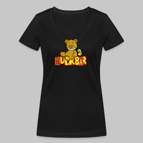 Ulkbär mit Vogel - Frauen Bio-T-Shirt mit V-Ausschnitt von Stanley & Stella