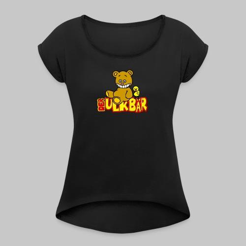 Ulkbär mit Vogel - Frauen T-Shirt mit gerollten Ärmeln
