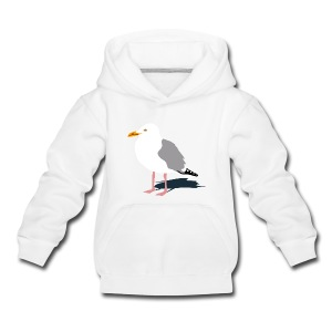 tier t-shirt möwe möwen sea gull seagull hafen beach harbour - Kinder Premium Hoodie